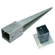 Ground Anchors Electro Galvanized Finish for Star Pickets
