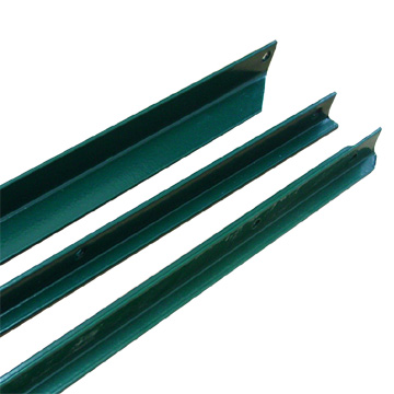 Plastic Coated Fence Post For Pvc Coated Mesh Fence Panels