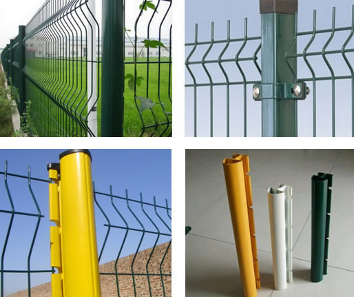Steel Fence Posts Green PVC Coated or Galvanized for Chain Link ...